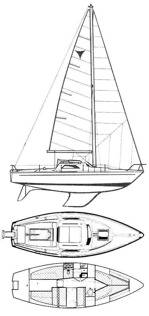 Jouet Caprice drawing on sailboatdata.com