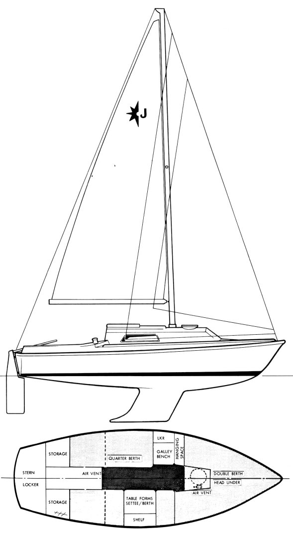 JOUSTER 21 (WESTERLY) drawing