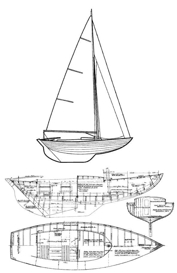 JUNIOR FOLKBOAT drawing