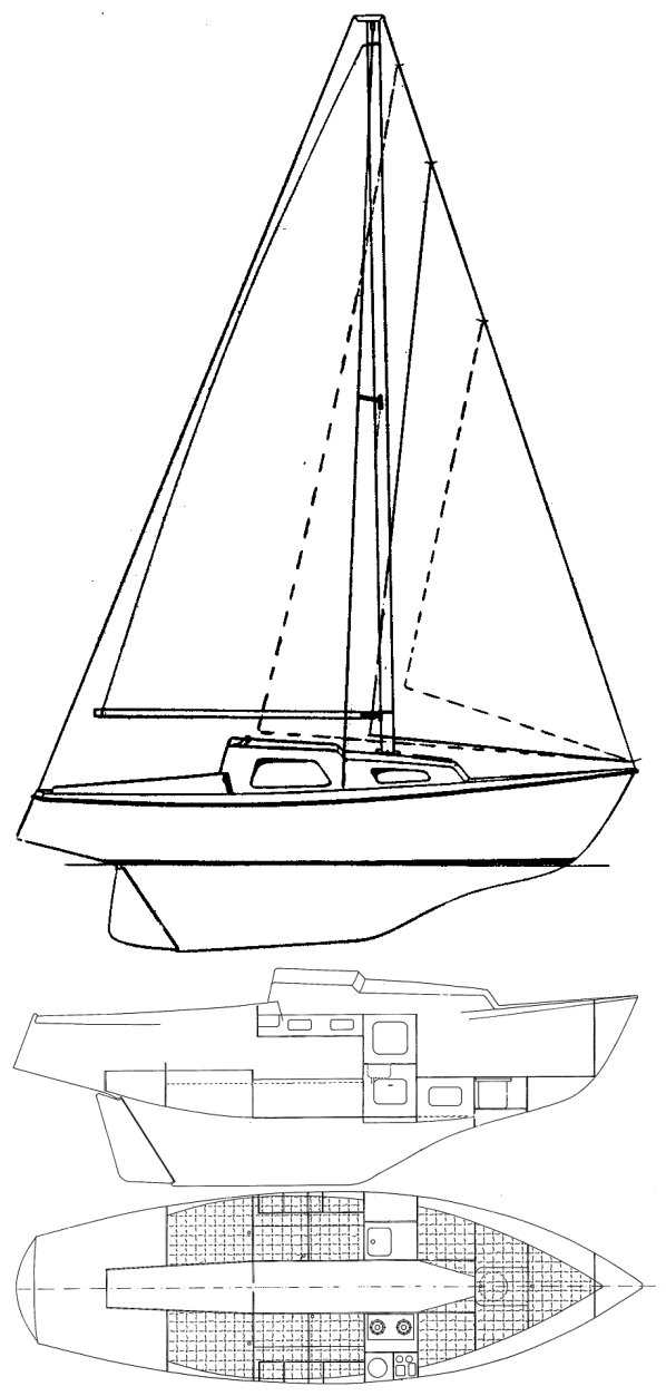 Junker 22 drawing on sailboatdata.com