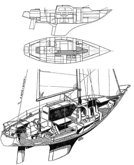 KARATE MKI (AFT CABIN) drawing