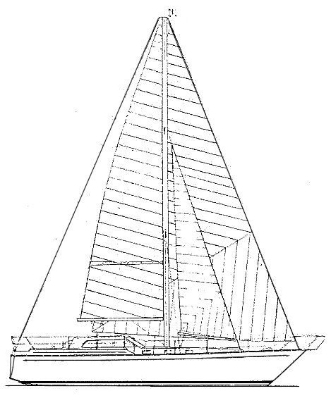 Kendo (CNSO) drawing on sailboatdata.com