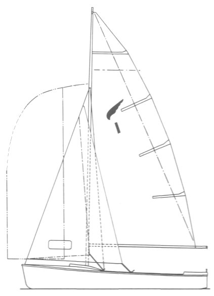 Kestrel Dinghy drawing on sailboatdata.com