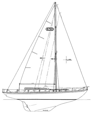 Kettenberg 50 drawing on sailboatdata.com