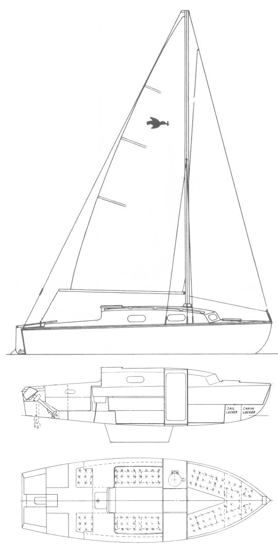 Kingfisher 20+ drawing on sailboatdata.com