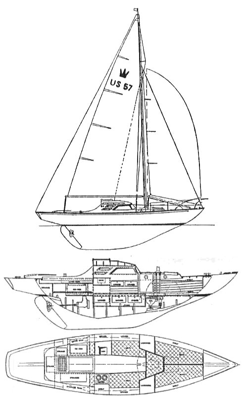 KING'S CRUISER 28 drawing