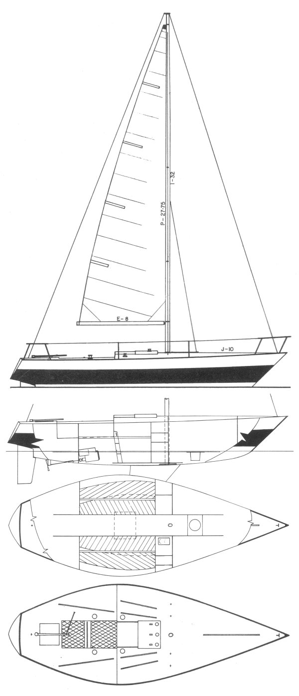 Kirby 1/4 ton drawing on sailboatdata.com