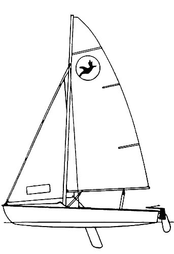 Kolibri (Koralle Jr.) drawing on sailboatdata.com