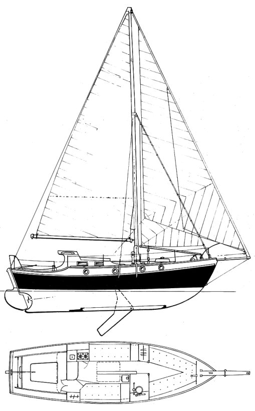 Kylix (Griffiths) drawing on sailboatdata.com