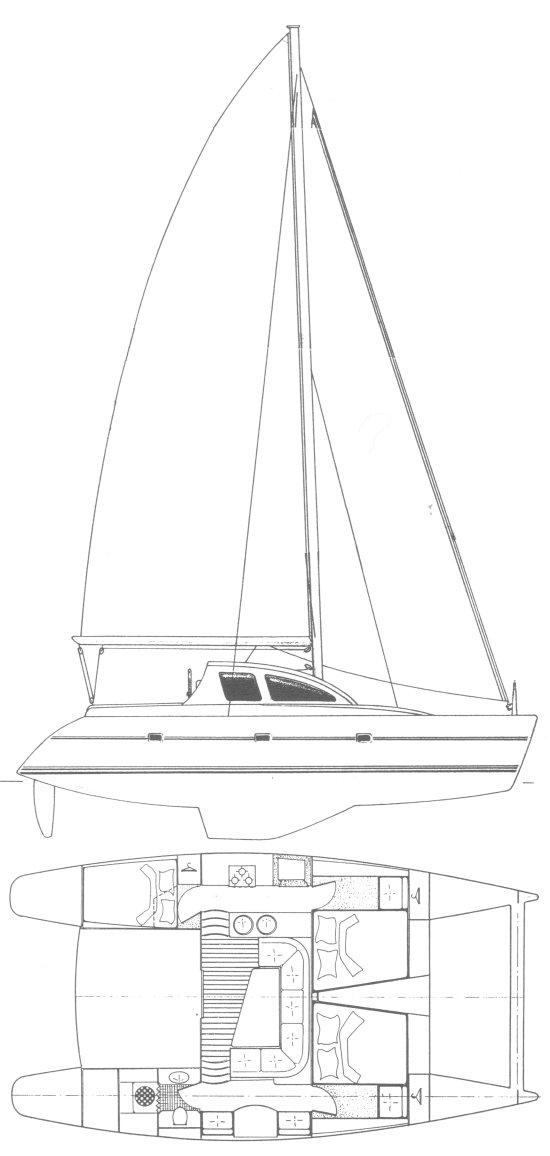 LAGOON 37 drawing