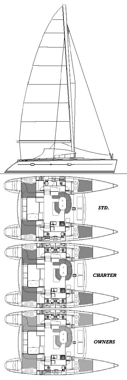LAGOON 410 drawing