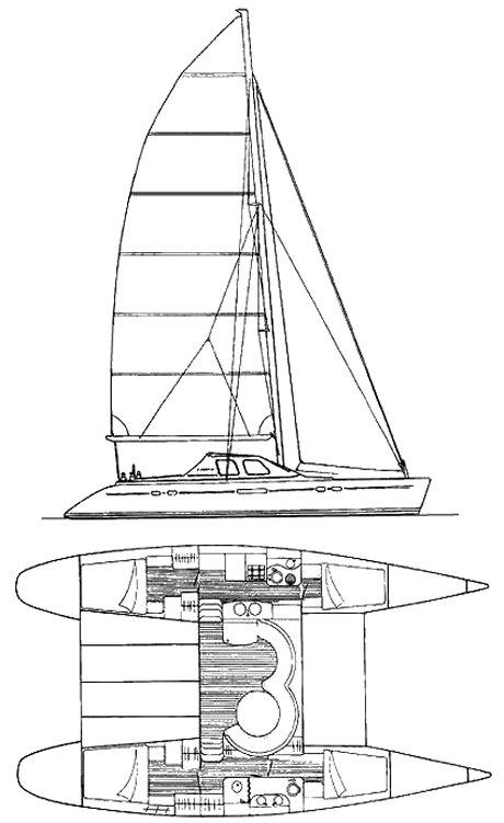 LAGOON 47 drawing