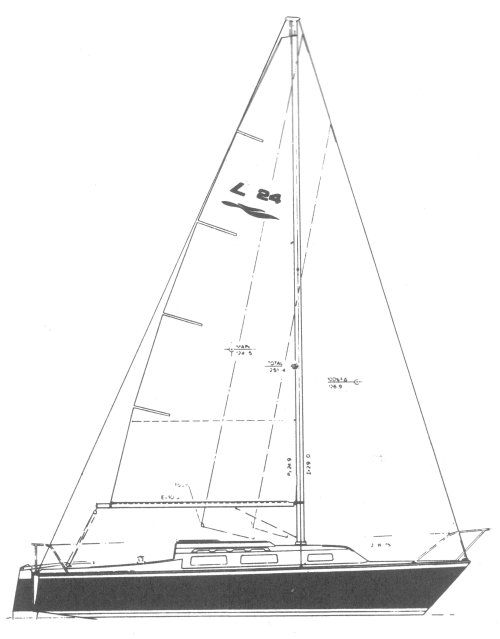 Laguna 24 (MH) drawing on sailboatdata.com