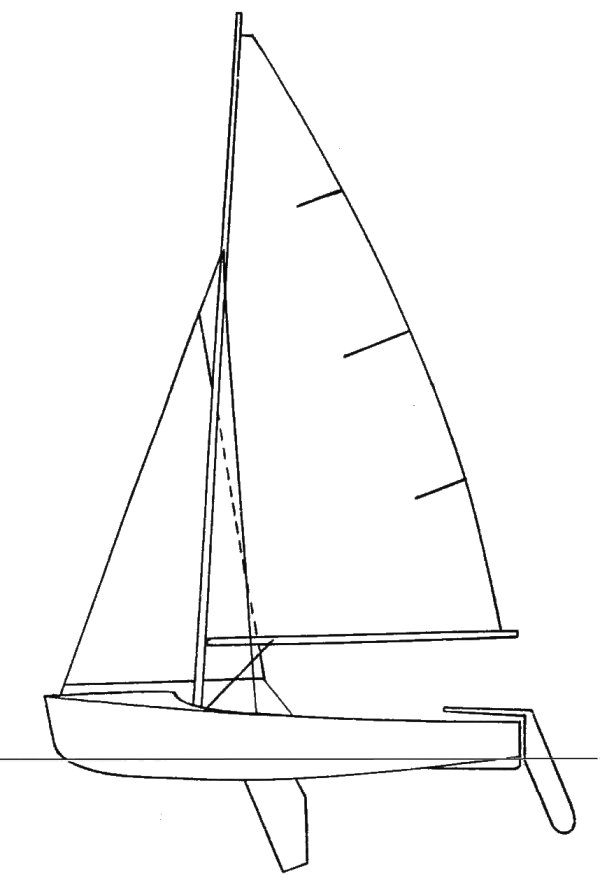 390 (Lanaverre) drawing on sailboatdata.com
