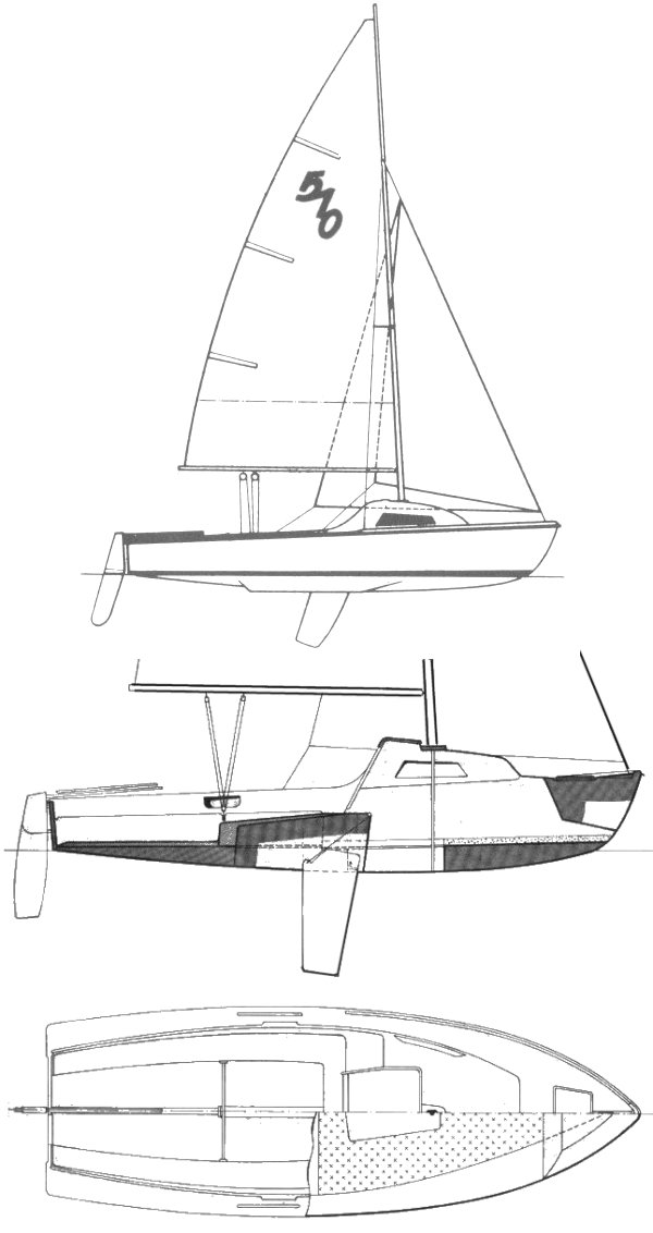 Lanaverre 510 drawing on sailboatdata.com