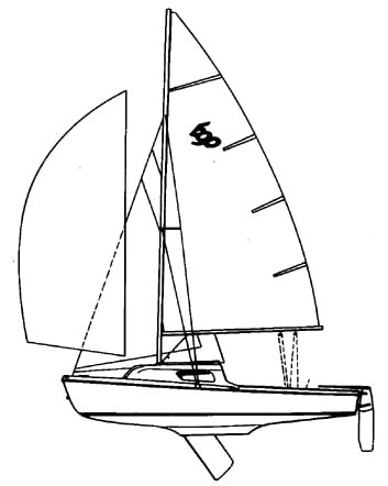 Lanaverre 590 drawing on sailboatdata.com