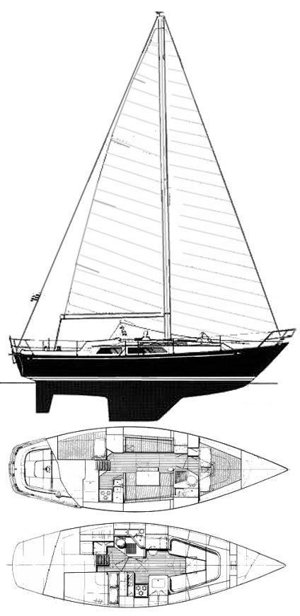 LANDFALL 35 (C&C) drawing