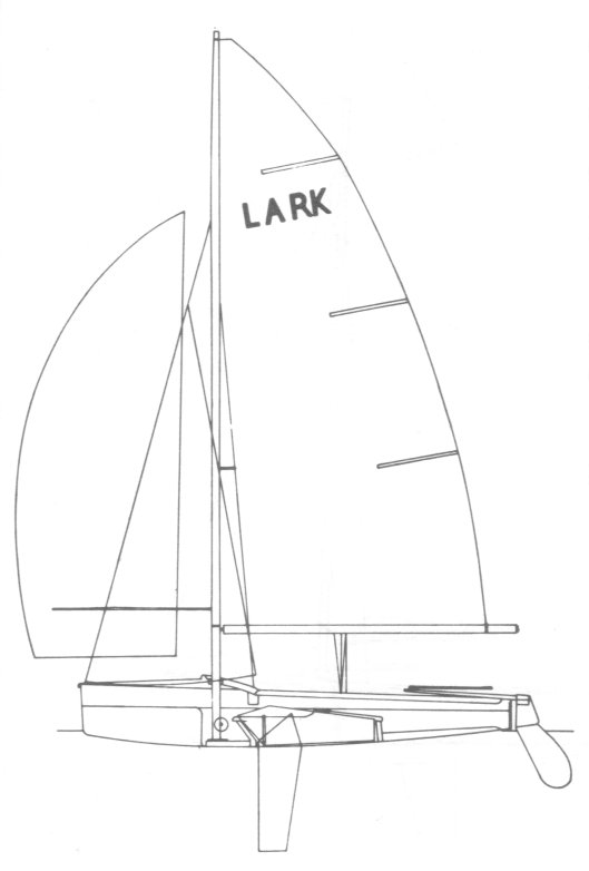 Lark 13 drawing on sailboatdata.com