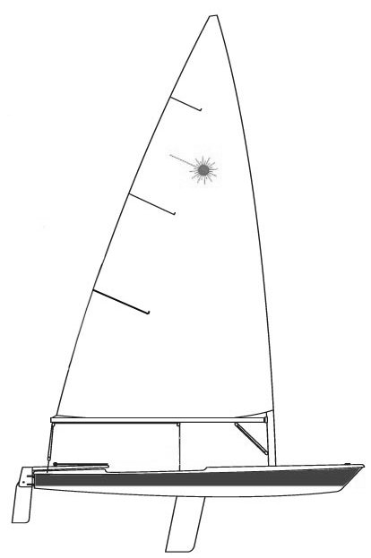 Laser International drawing on sailboatdata.com