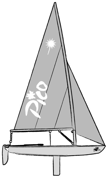 Laser Pico drawing on sailboatdata.com