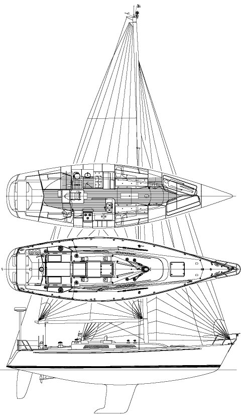 LEADERSHIP 44 (USCG) sailboat specifications and details