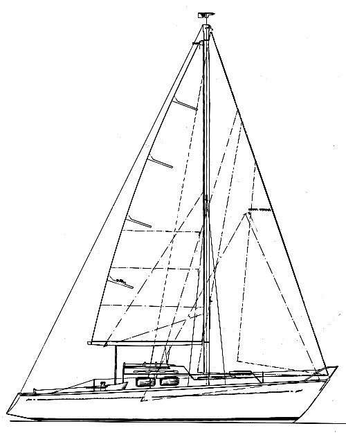 Legend 29 drawing on sailboatdata.com