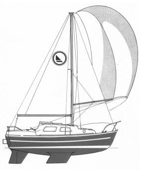 Leisure 22 drawing on sailboatdata.com