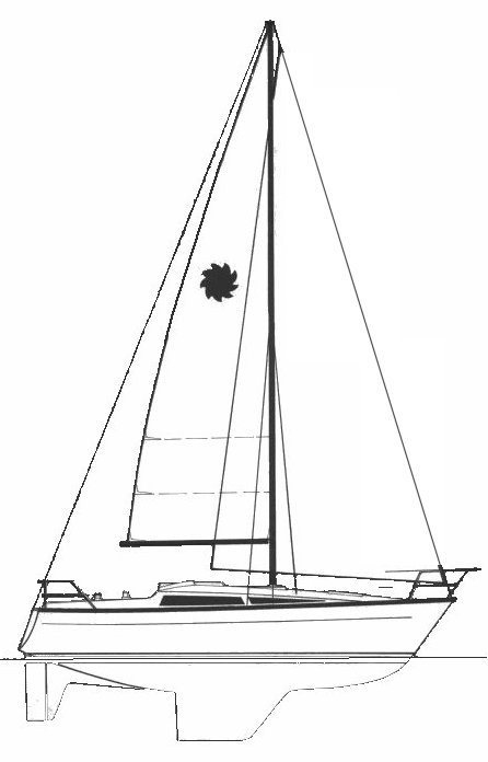 Leisure 29 drawing on sailboatdata.com