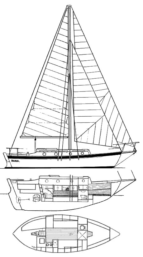 Liberty 28 drawing on sailboatdata.com