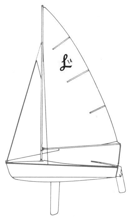 Lido 14 drawing on sailboatdata.com