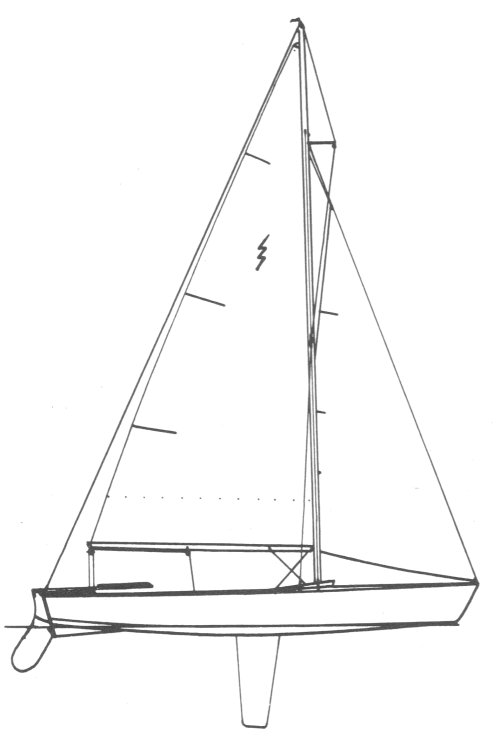 Lightning drawing on sailboatdata.com