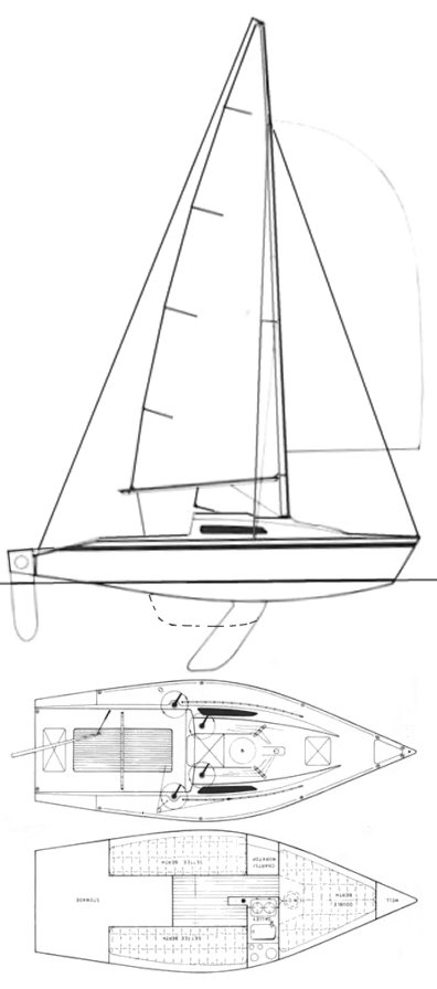 Limbo 6.6 drawing on sailboatdata.com