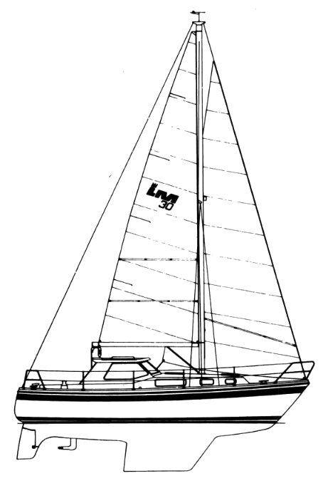LM 30 drawing on sailboatdata.com