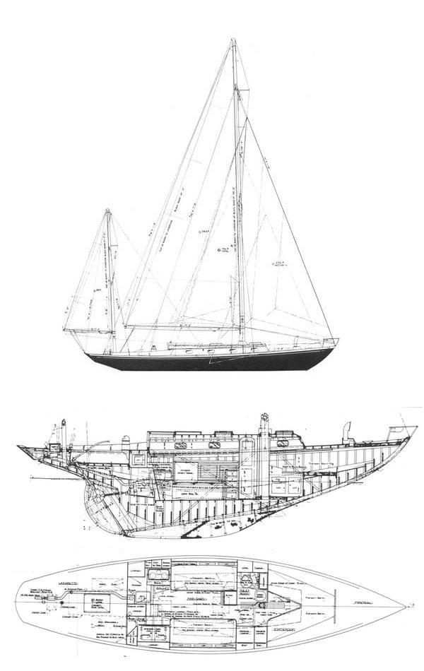 Loki 40 drawing on sailboatdata.com