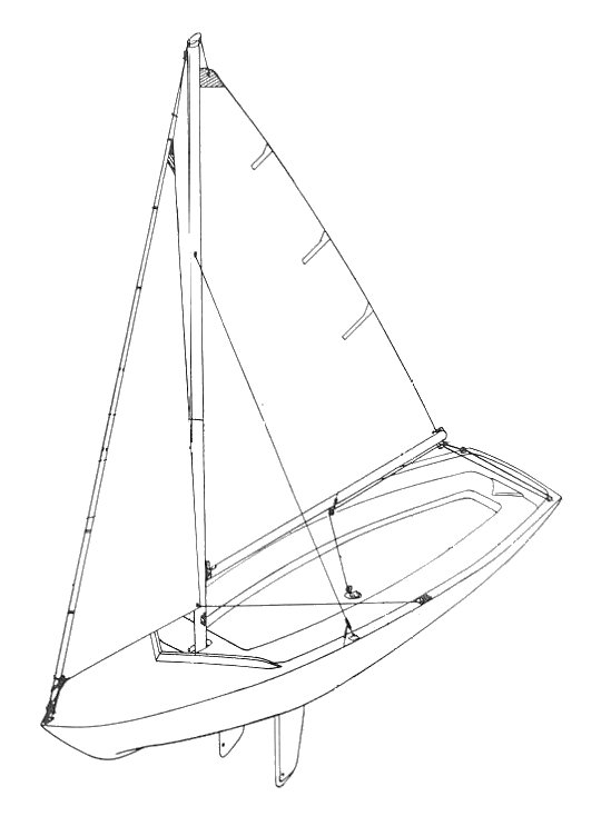 Lone Star 13 drawing on sailboatdata.com