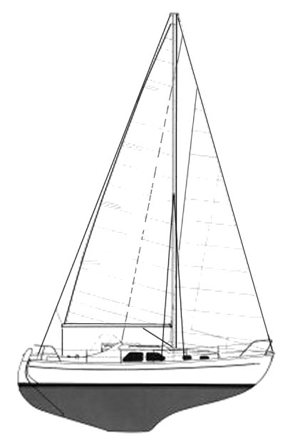 Lynaes 29 drawing on sailboatdata.com