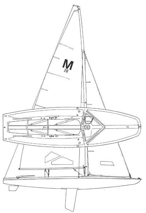M-20 drawing on sailboatdata.com
