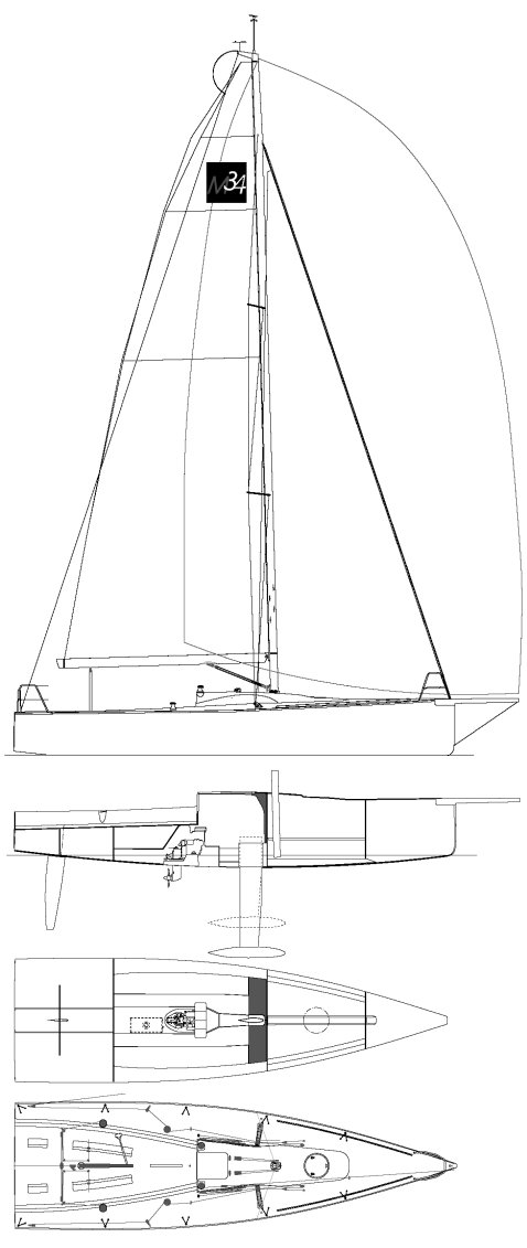 M34 (Archambault) on sailboatdata.com