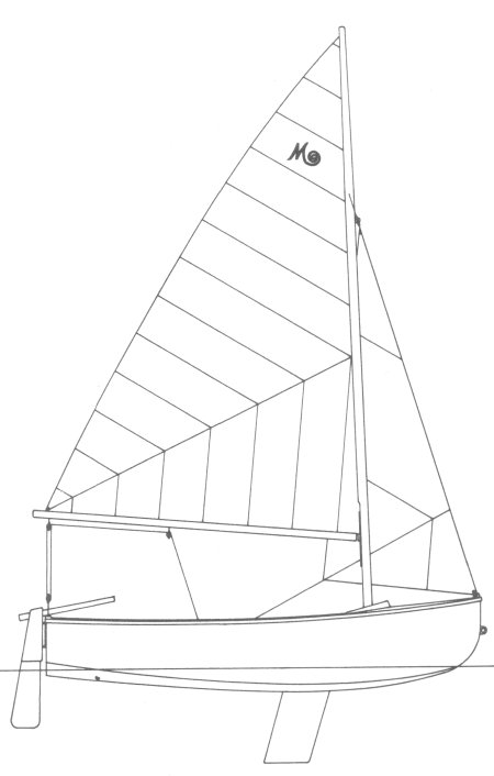 Mac Dinghy drawing on sailboatdata.com