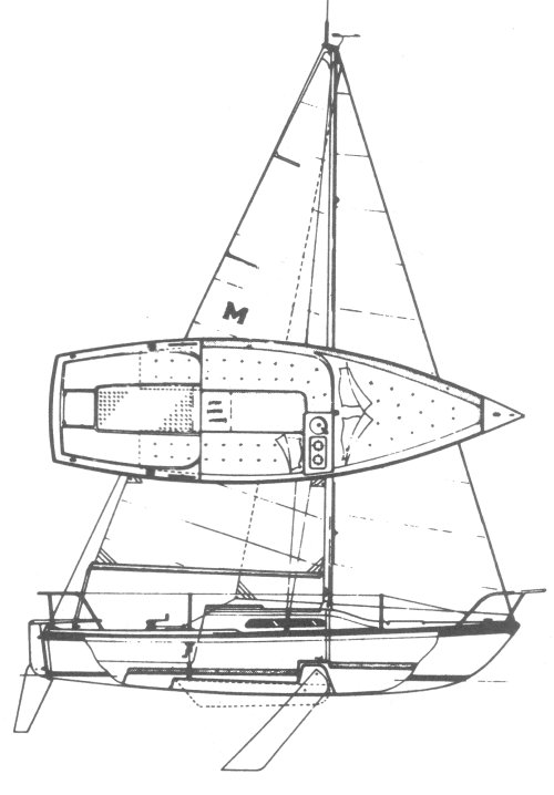 MacGregor 21 drawing on sailboatdata.com
