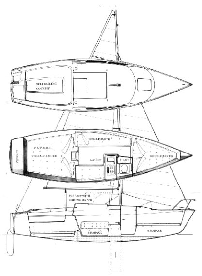 MACGREGOR 26D drawing