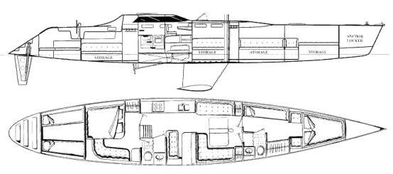 MACGREGOR 65 PILOT HOUSE drawing