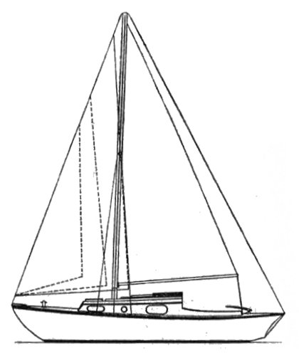 Macwester 28 drawing on sailboatdata.com