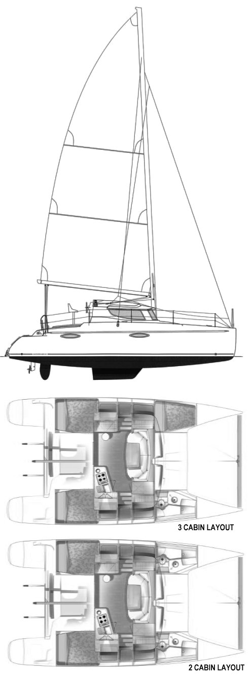 Mahe 36 drawing on sailboatdata.com