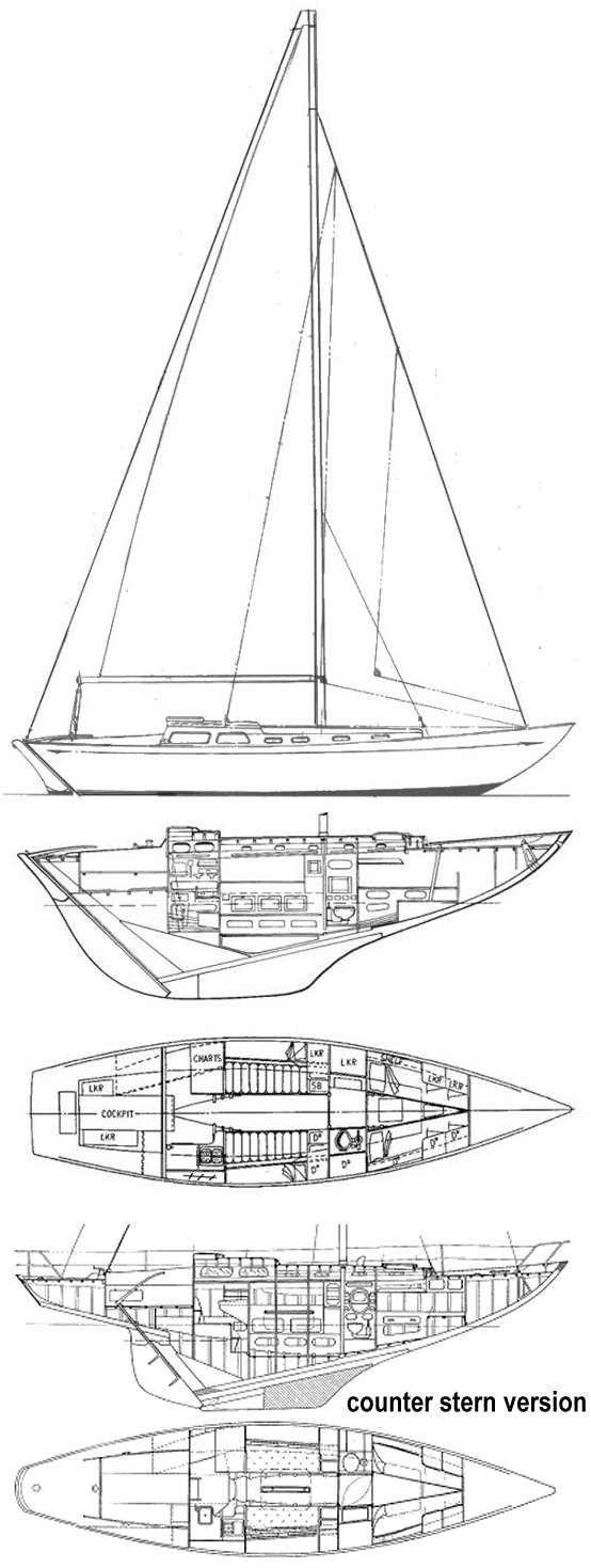 Maica drawing on sailboatdata.com
