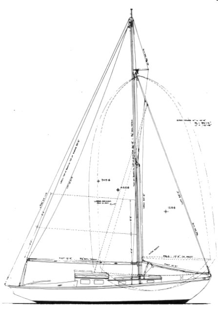 Malabar Jr. drawing on sailboatdata.com