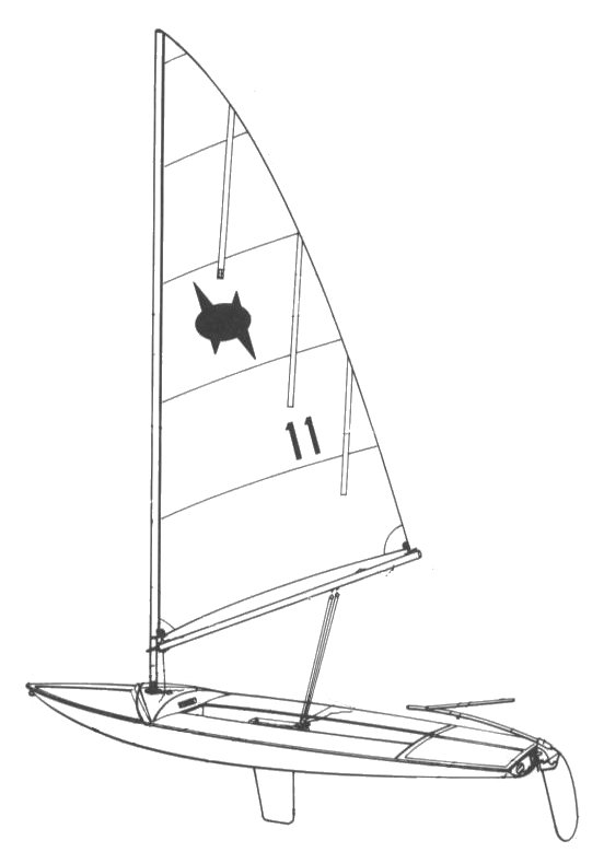 Man-O-War 15 drawing on sailboatdata.com
