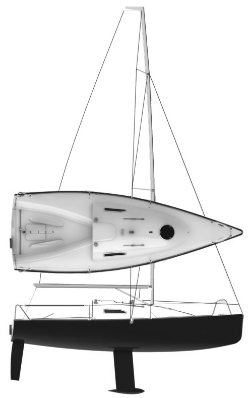 Mantra 7000 drawing on sailboatdata.com