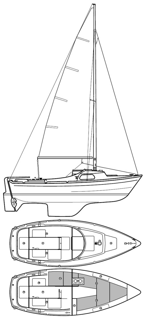 Marieholm MS-20 drawing on sailboatdata.com