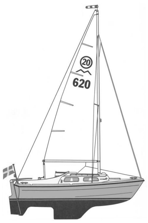 Marieholm S-20 drawing on sailboatdata.com